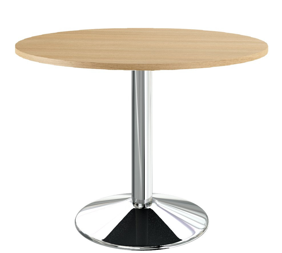Table-ronde-chrome-chene-90