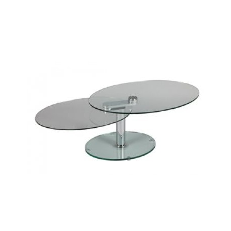 Table basse en verre ovale