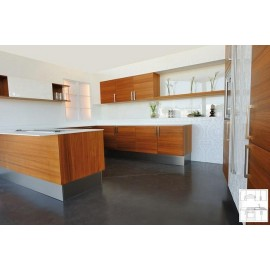 Meubles de cuisine équipée façade plaquée chêne teinte chene naturel