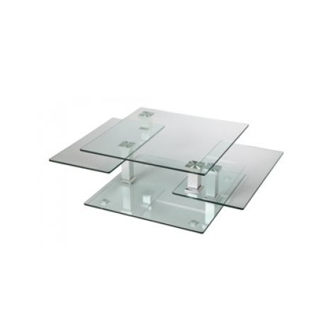 Table basse en verre carrée