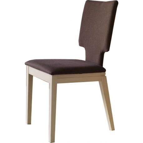 Chaises-bois-et-tissu-couleur-marron