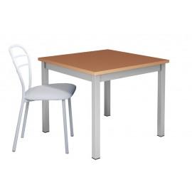 Table de cuisine pieds métal