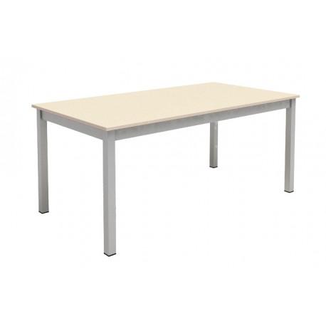table de cuisine rectangulaire plateau fixe longueur 130cm. Black Bedroom Furniture Sets. Home Design Ideas