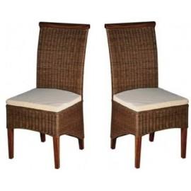 Chaises en rotin assise avec coussin
