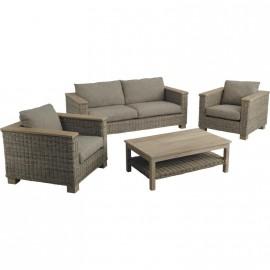 Salon 4 pièces canapés fauteuils tables