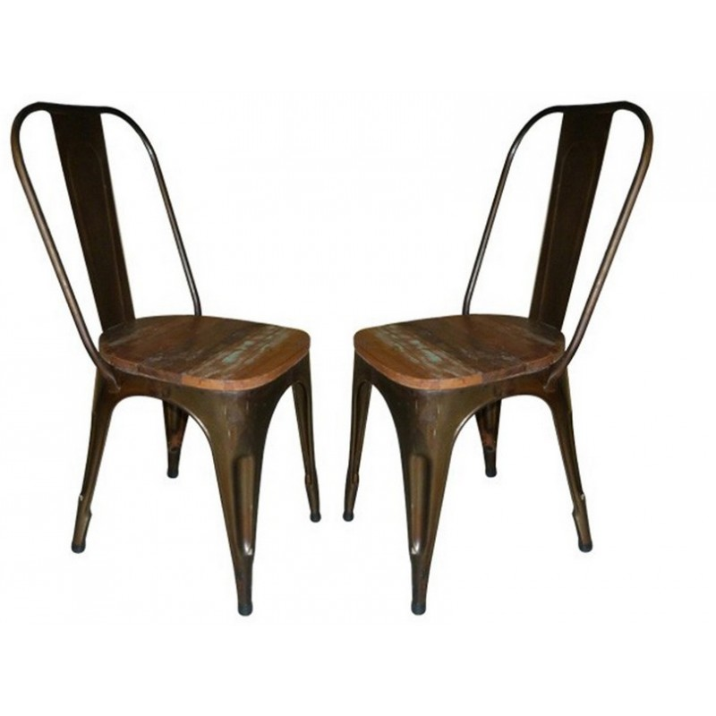 Chaises Metal Assise Bois