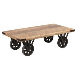 Table de salon sur roulettes