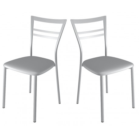 Chaises de cuisine en aluminium
