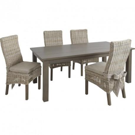 Table et chaises en manguier