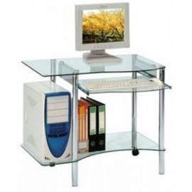 Petit bureau informatique en verre