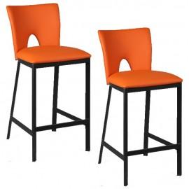 Chaise haute assise orange