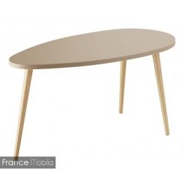 Table basse ovale bicolor