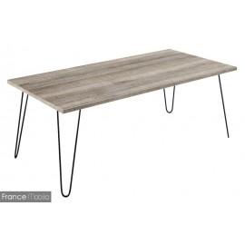 Table basse pieds forme epingles
