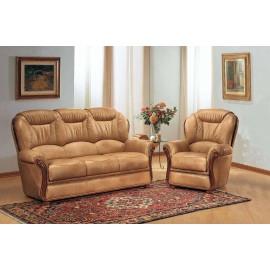 Salon cuir 3 pièces fauteuils