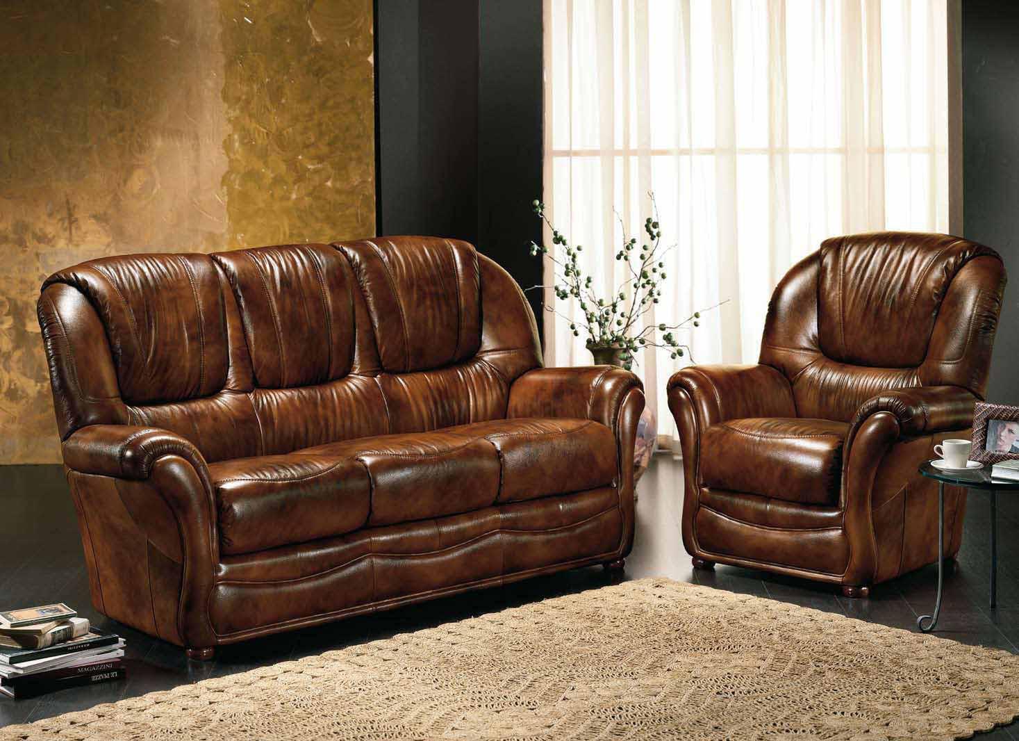 canape 3 places et 2 fauteuils en cuir bleu vert marron gris taupe ...