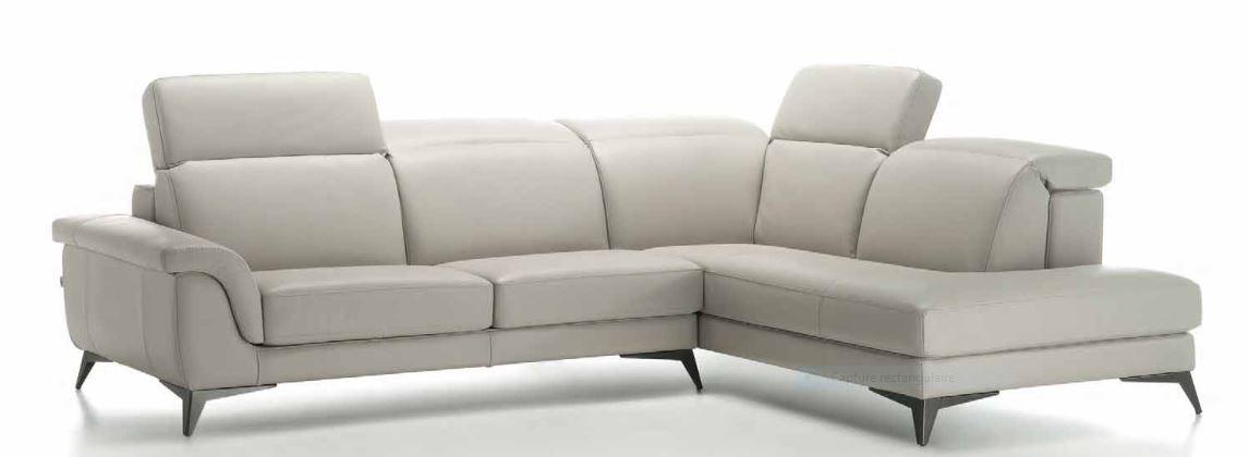 Canapé d'angle en cuir francemobilia