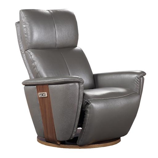 Relax bimoteur cuir gris