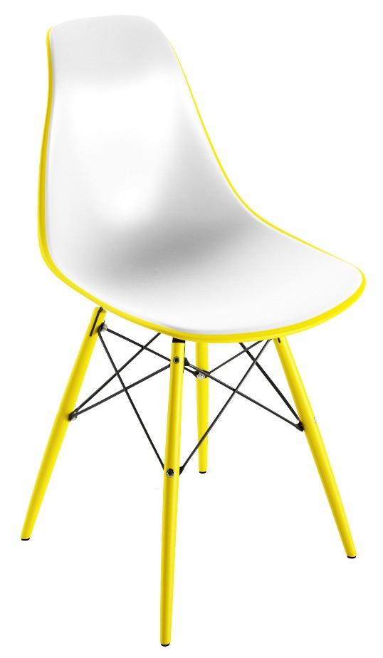 Chaise PVC jaune